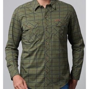 Nordstrom Shirts - Men's olive green windowpane casual button down XL
